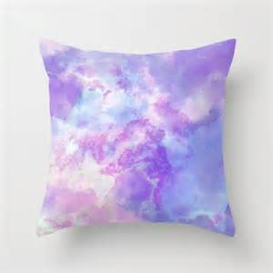 pastel purple pink and blue watercolor pillow