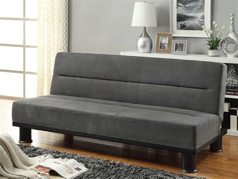 microfiber sofa bed homelegance callie click clack sofa bed graphite grey