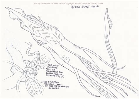 giant squid coloring pages