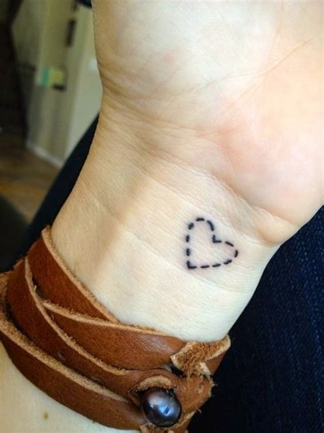 simple heart tattoos on wrist simple dotted line on wrist tattooimages biz