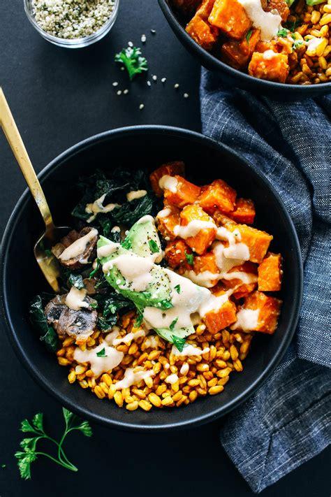 miso glazed sweet potato bowls making thyme  health
