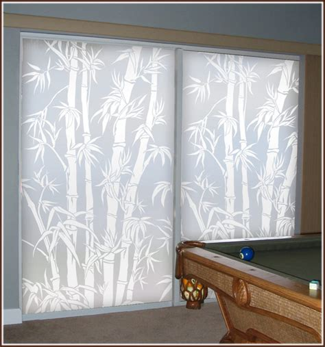 privacy for sliding glass doors big bamboo etched glass privacy window