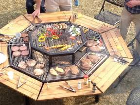 tisch mit grill jag grill bbq table