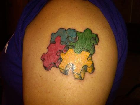 autism puzzle piece tattoos autism tattoos designs ideas and meaning tattoos for you