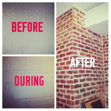 how to paint faux brick wall 17 best ideas about faux brick walls on brick