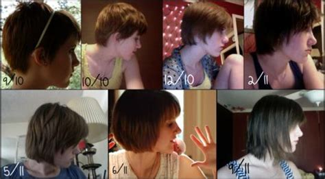 pixie cut growing out timeline growing out a pixie cut timeline pinterest the world s