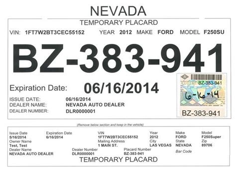 Car Dealer Tags Redesigned To Fight Fraud Business Elkodaily Com Dealer Tag Template