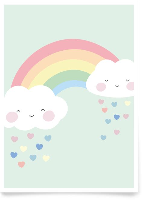 bild kinderzimmer regenbogen kinderzimmerbild regenbogen blau fabeltal