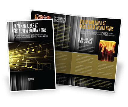 music stave brochure template design and layout download