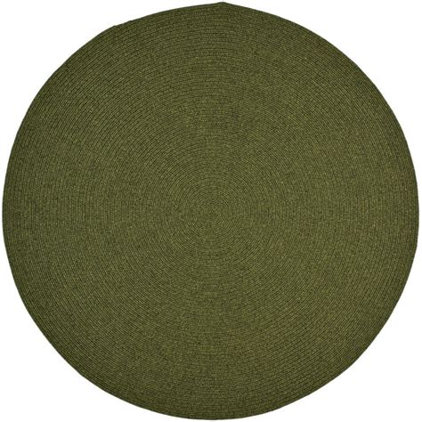 Safavieh Braided Green 8 Ft X 8 Ft Round Area Rug 8 Ft Rug