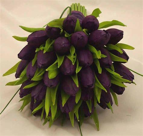 Wedding Bouquet Tulips by Purple Tulip Bridal Posy Bouquet Wedding Bouquets Silk