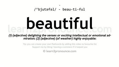 beautiful meaning beautiful pronunciation and definition youtube