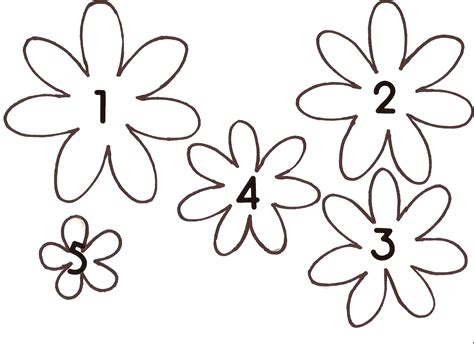 flower templates paperpestogallery