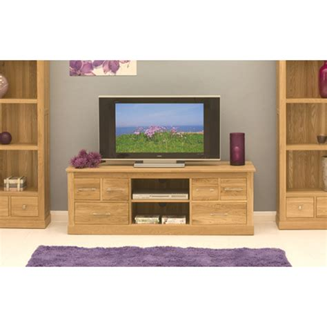 Artisan Tv Cabinet by Artisan Wooden Widescreen Television Cabinet In Oak 8875