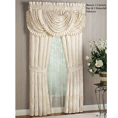waterfall valance pattern classique damask waterfall valance window treatment