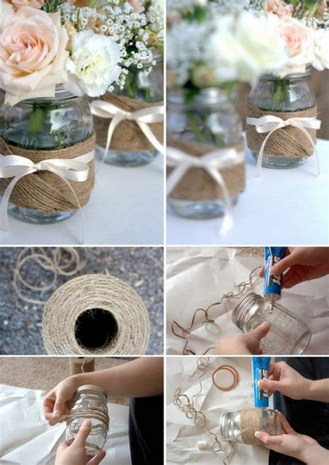 que puedo hacer con frasquitos de vidrio para un baby shower reciclar frascos de vidrio centros de mesa hermosos para