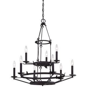 minka lavery kingsgate 9 light kona black chandelier 4979