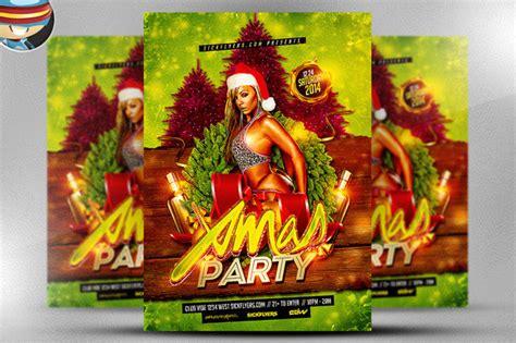 dafont unfolding tragedy xmas party flyer template flyer templates on creative market