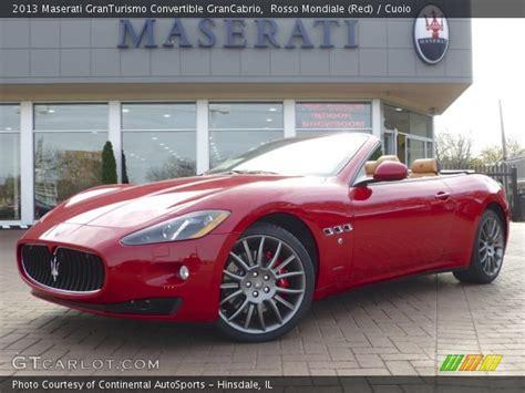 maserati granturismo convertible red interior rosso mondiale red 2013 maserati granturismo