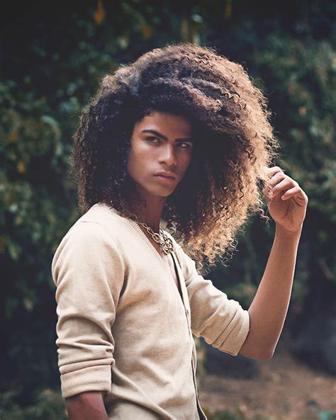 afro men brown highlights french african male model coh 233 paroix guys long hair