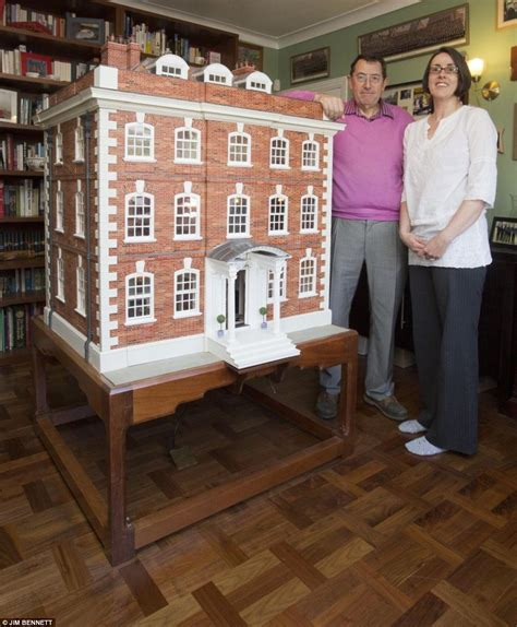 the dolls house builder doting father finishes building doll s house for daughter