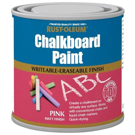 chalkboard paint pink rust oleum pink chalkboard paint matt finish 250ml