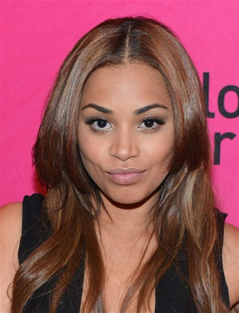 what is lauren londons hair color more pics of lauren london long straight cut 7 of 9