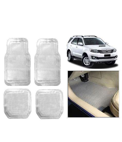 fortuner fr6900 rubber white vheelocityin transparent white premium rubber car foot mat