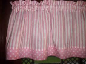 Polka Dot Curtains Nursery Pink White Stripe Polka Dot Baby Nursery Waverly Fabric Curtain Valance Ebay