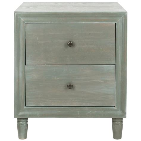 Safavieh Blaise Ash Gray Storage End Table Amh6605b The