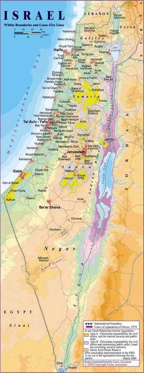 map of isreal maps of israel