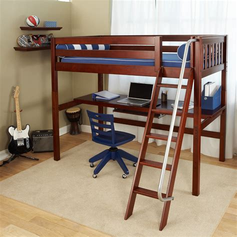knock out high loft bed with built in desk