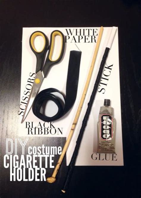 How To Make A Paper Cigarette - diy costume 1920s cigarette holder paperblog