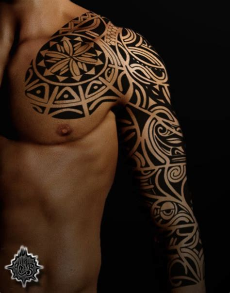 awesome tribal sleeve tattoos designs images  pictures