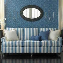 Blue And White Sofa Blue And White Striped Sofa Home Furniture Design