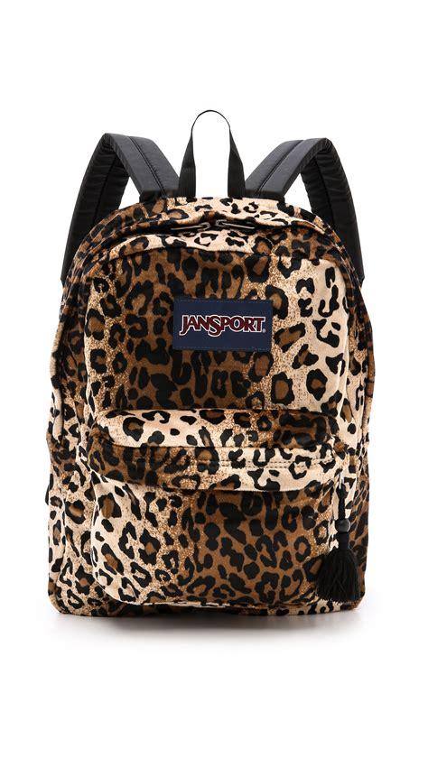 Leopard Print Backpack jansport leopard backpack backpacks eru