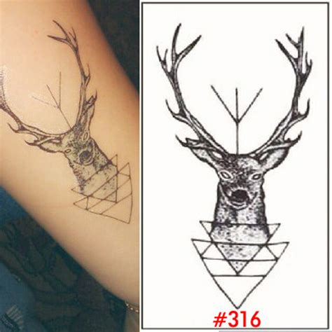 temporary tattoo women tatoo deer tattos adhesive tattoo