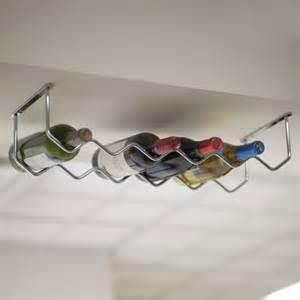 cabinet chrome 6 bottle wine rack contemporary