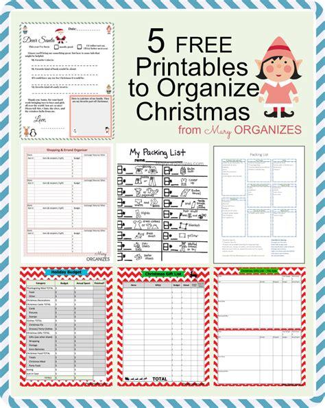 Printable Christmas Organizing Lists | 5 free printables to organize christmas