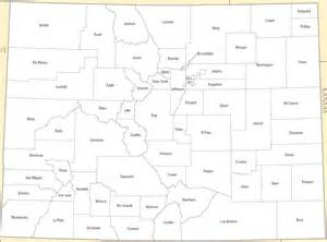 colorado state county map a large detailed colorado state county map