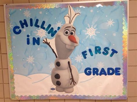 Kindergarten Classroom Decorating Themes - frozen olaf bulletin board ideas for the classroom crafty morning