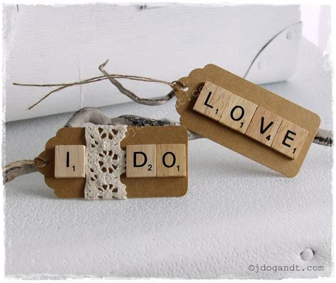 Diy Scrabble Swing Tags Wedding Decoration Gift Favours