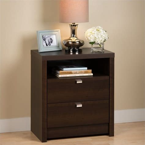 2 drawer nightstand espresso tall 2 drawer nightstand in espresso ednh 0529 1