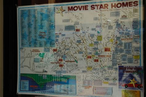 hollywood celebrity tour map celebrity homes maps are wonderful souvenirs of a visit to
