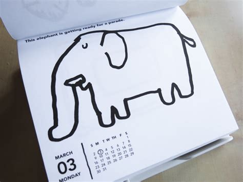 daily doodle calendar daily doodle 2014 calendar illustrated by taro gomi a