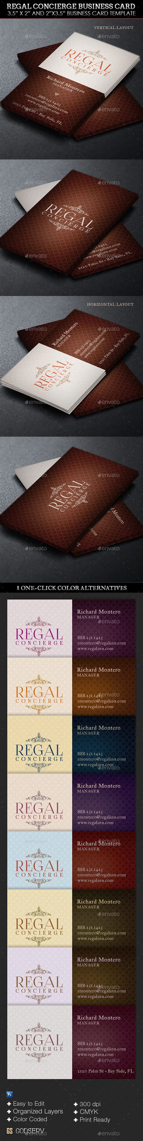 concierge business cards template regal concierge business card template graphicmule