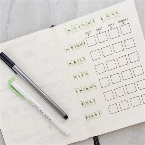 weight loss journal bullet journal weight loss tracker bullet journal