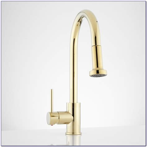 brass faucet kitchen kohler polished brass kitchen faucet