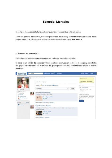 edmodo tutorial em português edmodo env 237 o de mensajes