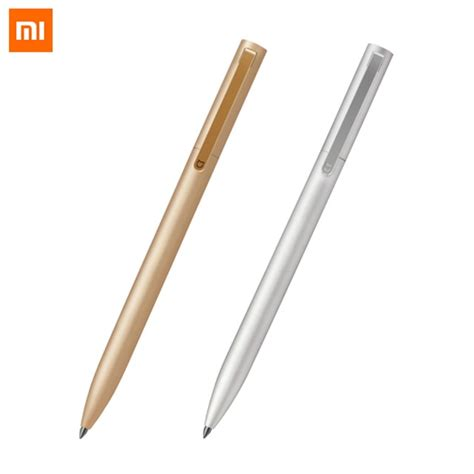Xiaomi Mijia 0 5mm Metal Sign Pen original xiaomi mijia metal sign pen mi pen 0 5mm signing